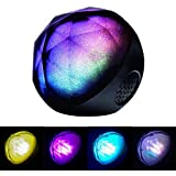 SailsON Electronics LED Color Changing Ball Light Wireless Bluetooth Speaker Music Player with FM Radio TF and Remote Control(Black)