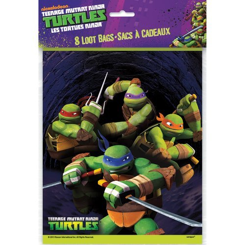Teenage Mutant Ninja Turtles Favor Bags - Birthday & Theme Party Supplies - 8 per pack