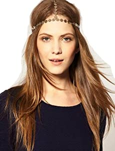 WIIPU Bohemian Head Chain House Of Harlow Headpiece hip hop Headchain(wiipu-B432)