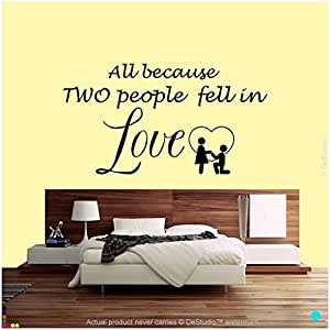 DeStudio In Love Wall Decal, Size XXL & Color BLACK
