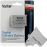 Vivitar NB-10L Ultra High Capacity 1300mAh Li-ion Battery for Canon PowerShot SX50 HS, Powershot SX40 HS, PowerShot G1X, Powershot G16, Powershot G15 (Canon NB-10L Replacement)