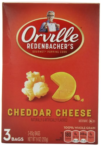 Orville Redenbacher Cheddar Cheese Microwave Popcorn, 9-Ounce Boxes (Pack Of 12)