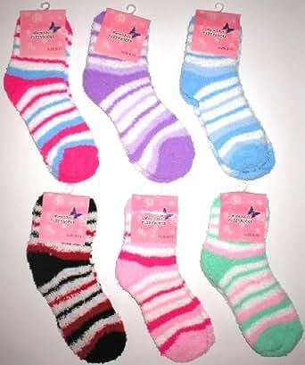 Wholesale Lot 6 Fuzzy Socks Womens Warm Winter Socks