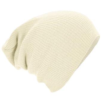 Beechfield - Bonnet - Adulte unisexe (Taille unique) (Blanc cassé)