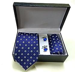 Classique Premium Microfibre Tie Set with Matching Pocket Square & Cufflinks