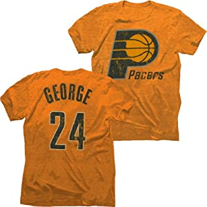 Indiana Pacers NBA Paul George #24 Tri-Blend Name & Number T-Shirt M by Majestic Threads