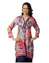 Love From India - Floral Print Blue Kurti_100278_BLUE_$P