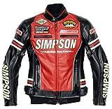 シンプソン(SIMPSON) フェイクレザージャケット レッド WL SJ-5133L