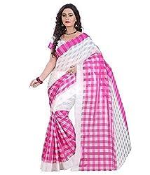 RadadiyaTRD Women's Silk Saree (PINK_SILK_CHEXX)