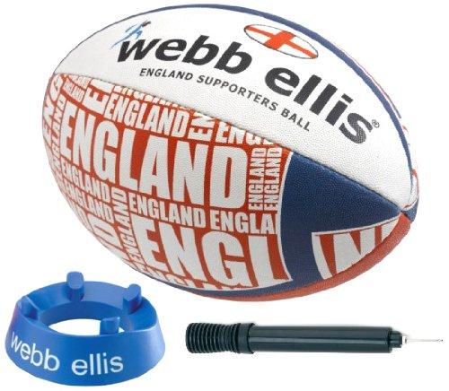 Webb Ellis Kids England Supporter Starter Pack - White, Size 4