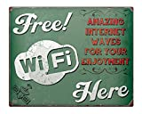 Free Wifi here Vintage Shabby Chic 8x10