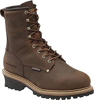 Carolina Boots Men Waterproof Insulated Met Guard Loggers CA7821