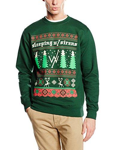 Plastic Head Sleeping With Sirens Christmas Trees CS-Felpa Uomo    verde Small