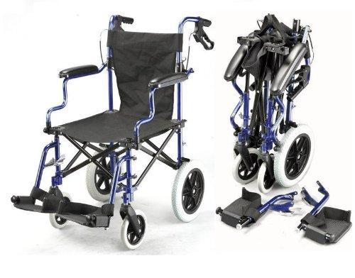 Pieghevole leggero borsa ina viaggio sedia a rotelle con freni ECTR04