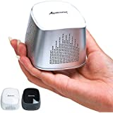 Alpatronix AX310 Ultra Portable Mini Bluetooth Speaker & Wireless Speaker with Built-In Microphone (Bluetooth 4.0) - (Silver/White)