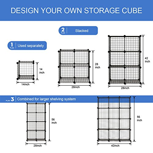 12 Inspirations For Home Improvement With Spanish Home: 12 Storage Cubes By KOUSI, 12 Wire Grids Cube Closet