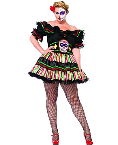 Plus Day Of The Dead Doll Peasant Costume
