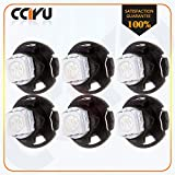 CCIYU 6x White T4.7 Neo Wedge 5050 Led for A/C Climate Heater Control Bulbs Lamp Light Fits For 2001-2012 Dodge Ram 1500 Van Intrepid Dakota Caravan Grand Caravan Ram 5500 4500 3500 Van 3500