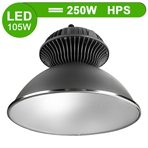 LE® 105W LED High Bay Lighting, 250W HPS or MH Bulbs Equivalent, 9600lm, Waterproof, , Daylight White, 6000K, 90° Beam Angle, Super Bright Commercial Lighting, LED High Bay Lights