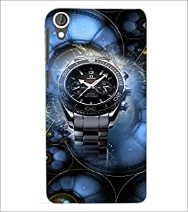 PrintDhaba Watch D-3054 Back Case Cover for HTC DESIRE 820 (Multi-Coloured)