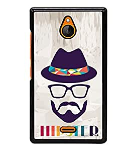 Vizagbeats Hipster Back Case Cover For Nokia X2