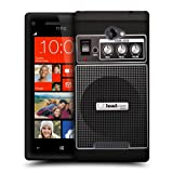 Head Case Designs Black Acoustic Guitar Amp Protective Snap on Hard Back Case Cover for HTC Windows Phone 8X