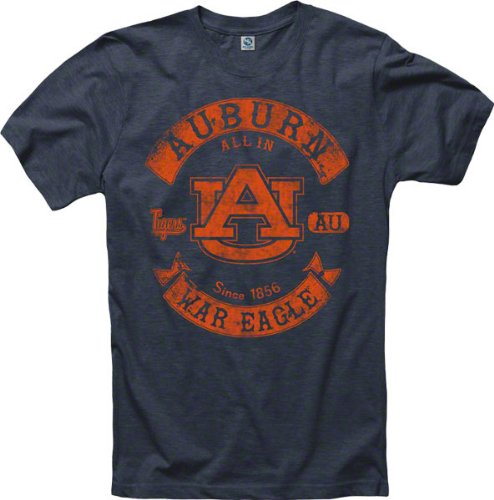 Auburn Tigers Heathered Midnight Rockers Ring Spun T-Shirt at Amazon.com