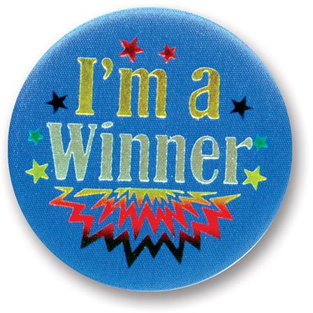 "I'm A Winner Satin Button 2"" Party Accessory"
