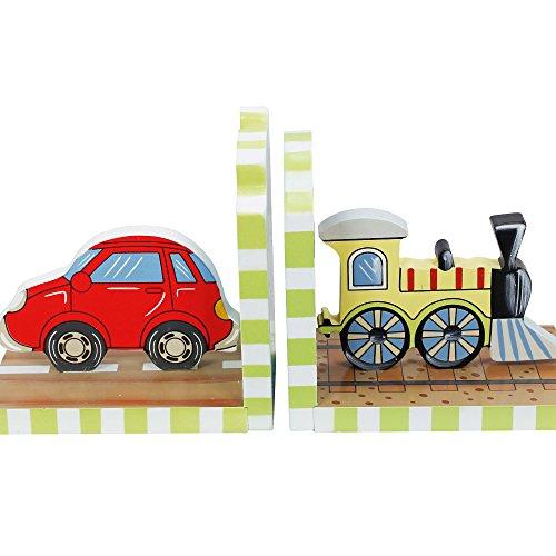 Teamson Design Corp Fantasy Fields Transportation Set of Bookends