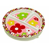 Sugar Booger Forest Flowers Divided Suction Plate ~ SUGARBOOGER