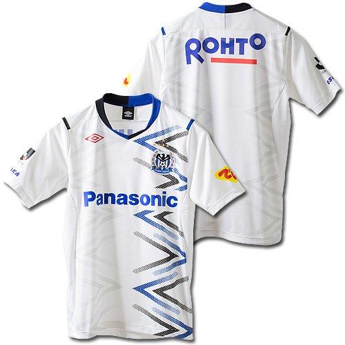 アンブロ 2014 ガンバ大阪 アウェイ レプリカユニフォーム ホワイト×ブルー M-L