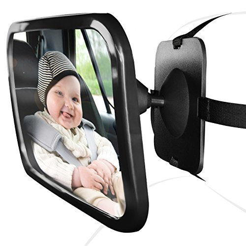 OxGord Baby Back Rear Car Seat Mirror Shatterproof  Safely See Your Child Infant for SUV Truck Van | Newly Designed 2016 (Car Mirror Baby Light compare prices)
