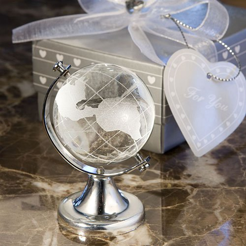 crystal globe wedding favors