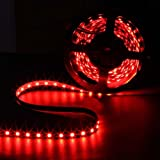 SUPERNIGHT (TM) 16.4ft 5M SMD 5050 Red Waterproof Led Flexible Flash Strip 300 Leds LED Light Strip 60Leds/M Multifunctional
