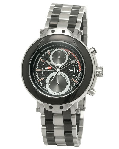 DFactory Men's DFU011CRC Black Label Black Dial Bracelet Chronograph Watch