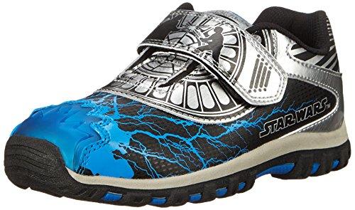 Stride Rite Star Wars Force Energy Light-Up Sneaker, Black/Silver, 10 M US
