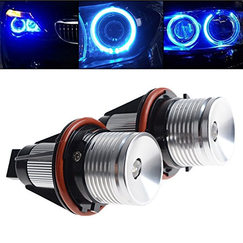 BLUE 6W Error Free Angel Eye Light LED Ring Marker Bulb For 04-07 BMW E87 01-03 E39 M5 04-07 E60 E61 E63 E64 02-08 E65 E66 06-07 X3 E83 00-06 X5 E53