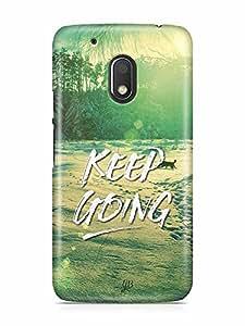 YuBingo Keep Going Designer Mobile Case Back Cover for Motorola G4 Play