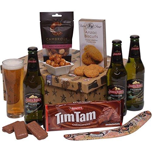 Australian Beer Hamper - Australian Hampers and Aussie Gift Baskets - Beer & Foods Gifts