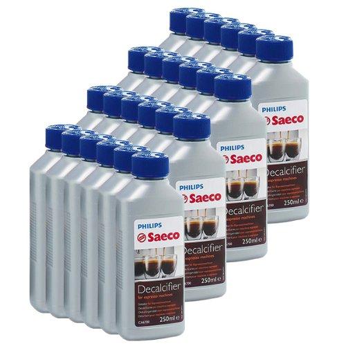 Saeco, Confezione da 24 decalcificanti per macchine da caffé espresso Saeco, 250 ml