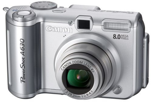 Canon PowerShot A630 is the Best Compact Point and Shoot Digital Camera for Travel and Action Photos Under $200