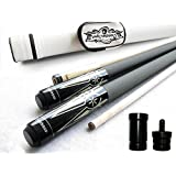 Gator 18. 0 Ounces : Champion ST-9 Billiards Pool Cue Stick, White Pool Case, Champion Pool Glove, 3 Cue Tips