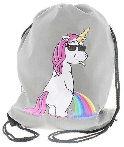 Unicorn Cooles Einhorn Borsa palestra grigio