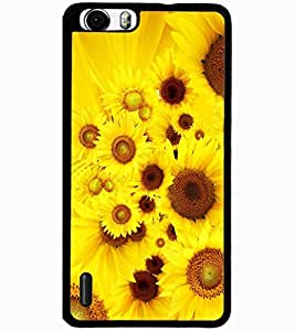 ColourCraft Beautiful Flowers Design Back Case Cover for HUAWEI HONOR 6 PLUS