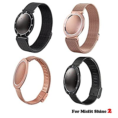 Misfit Shine 2 Band, No1seller Replacement Milanese Loop Stainless Steel Band Strap Bracelet Wristband With Laser Curved Time Numbers for Misfit Shine 2 Tracker & Sleep Monitor