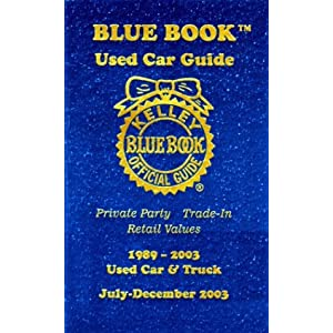 kelley blue book used car guide 1989 2003 used car