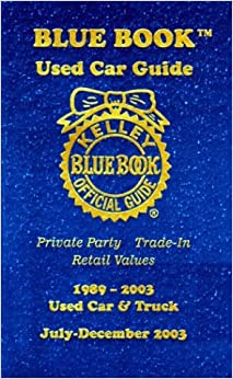 kelley blue book used car guide 1989 2003 used car truck kelley blue book. Black Bedroom Furniture Sets. Home Design Ideas