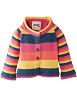 Kite Baby-Girls Flower Striped Button Front Cardigan