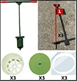 Golf Hole-cutting Set with putting green pins, covers & stabilisers