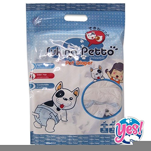 Diapers For Dogs Sukino Petto Pet Diaper Size 'M 3-Pack(36Pices) front-46977
